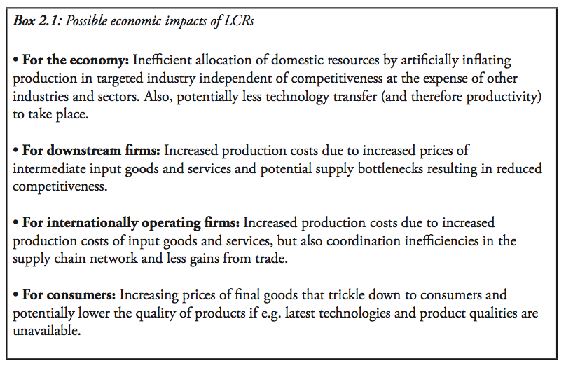 The Economic Impact of Local Content Requirements: A Case
